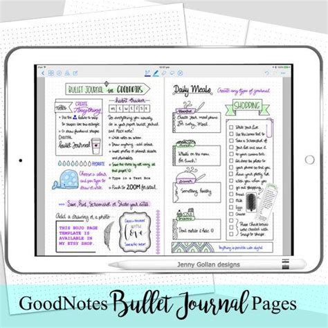 Digital Planner Pages For Ipad Goodnotes Bullet Journal Wreck This Journal Pinterest Goodnotes Bullet Journal Template