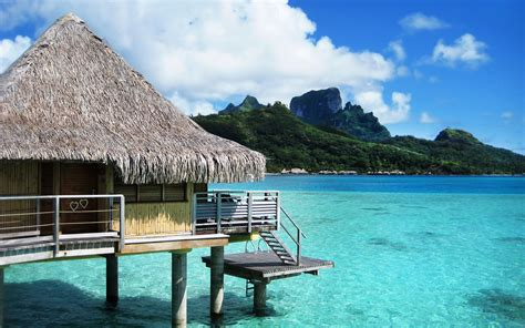 bungalows in bora bora bora bora bungalow resort on the wallpaper