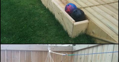 backyard bowling alley build a backyard bowling alley awesome backyards and