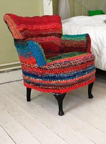 Crochet Pattern For Armchair Covers by Crochet Chair Cover Http Lomets