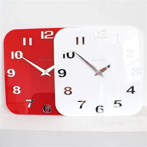 contemporary kitchen wall clocks gloss white black silver modern kitchen retro wall