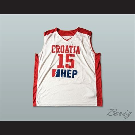 Jersey Go Croatia Home croatia 15 national team basketball jersey