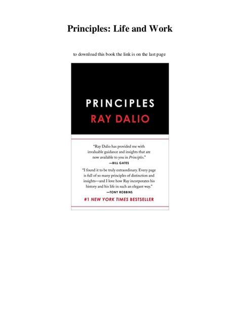 principles life and work pdf download principles life and work ebook read online