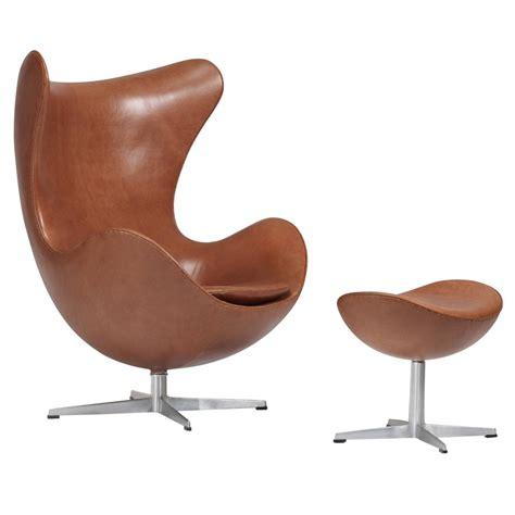 Egg Chair And Ottoman Arne Jacobsen Egg Chair And Ottoman For Fritz Hansen At 1stdibs