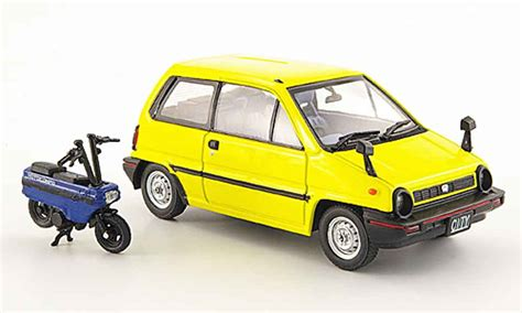 Die Cast Miniatur Motor Honda Hornet 1 New honda city yellow avec motocompo minimotorrad 1981 ebbro diecast model car 1 43 buy sell