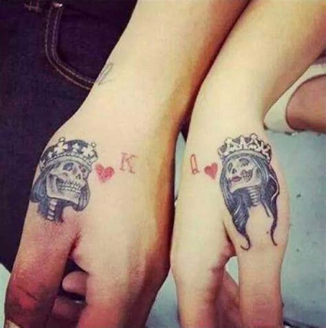 queen knuckle tattoo 40 king queen tattoos that will instantly make your