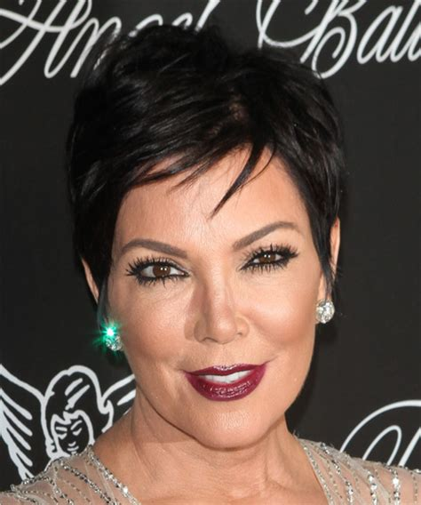 kris jenner hair colour kris jenner short straight casual hairstyle black hair color