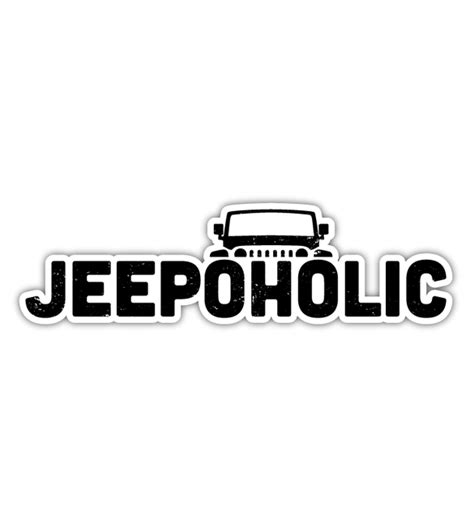 Jeep Decal All Things Jeep Jeepoholic Decal
