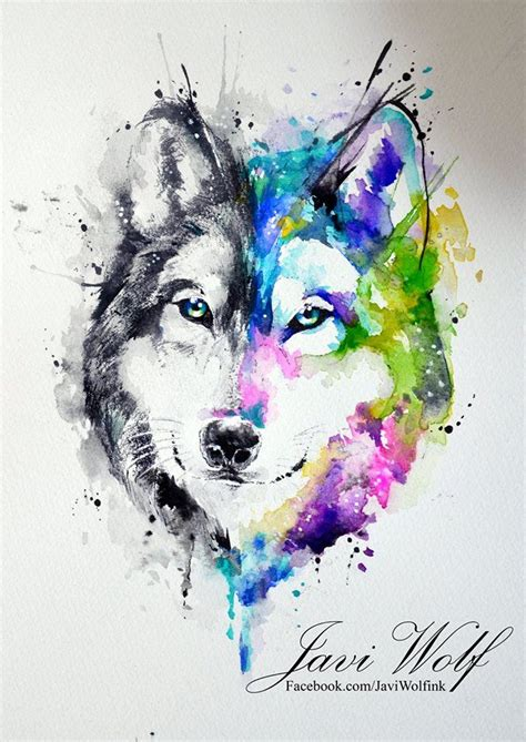 watercolor wolf tutorial pin by sarah ferrante on art inspiration pinterest