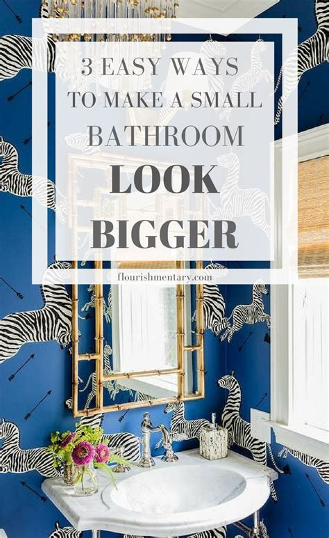 easy small bathroom design ideas tiny but chic 3 easy ideas for small bathrooms