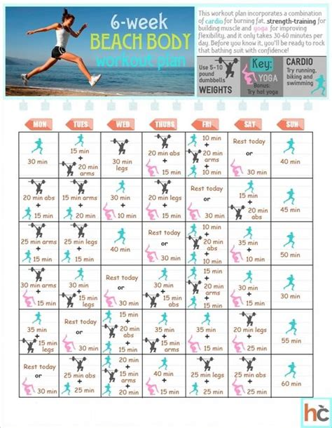 6 weeks to spring break at home workout plan pieces 25 best ideas about beach body workouts on pinterest