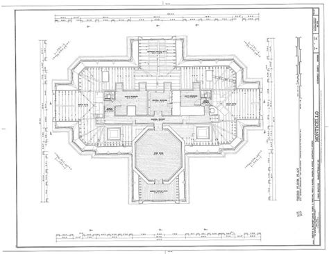 monticello floor plan the monticello architectural plan architectural history