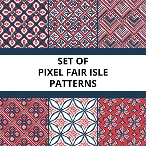 pixel pattern ai pixel pattern with floral elements vector free download