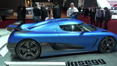koenigsegg agera r matte black koenigsegg agera r matte blue doors closed with lights on