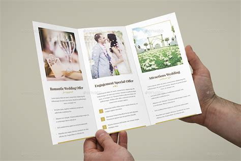 Wedding Menu Brochure by Brochure Hotel For Wedding Tri Fold By Artbart