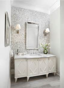 gray mosaic tiled bathroom accent wall contemporary 25 best ideas about gray bathrooms on pinterest