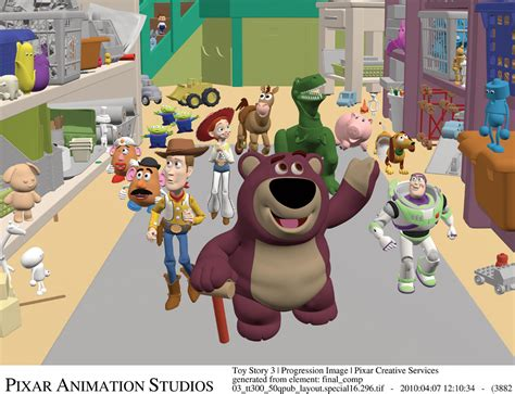 layout scene step by step toy story 3 scene progression cg channel