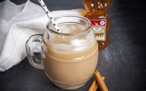 Honey Chestnut Latte Iced honey cinnamon iced latte sioux honey association co op
