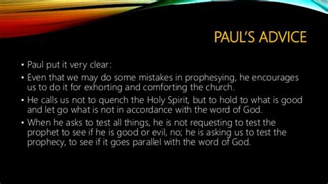 prophecy is for edification exhortation and comfort the chair of authority