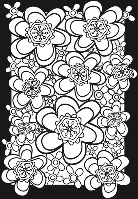 flower power stained glass coloring book coloring pages