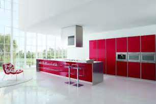Red White Kitchen Ideas Modern Kitchen Designs With Red And White Cabinets From