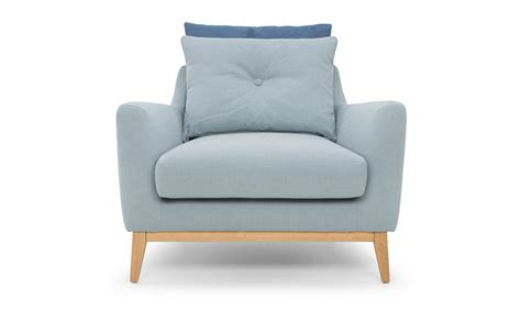 armchair in light blue out and out original