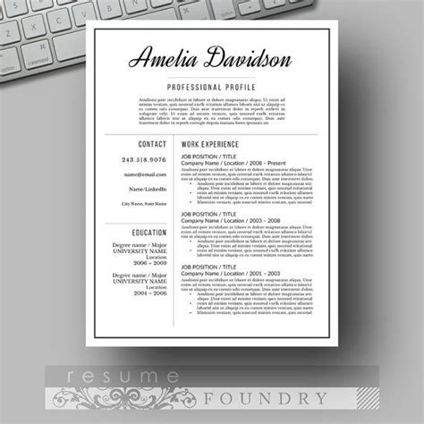 111 best resume templates etsy 111 best images about resume templates etsy on
