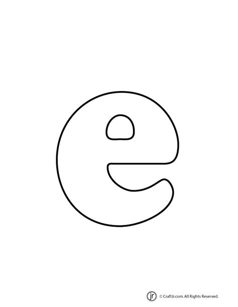 Printable Bubble Letters Lowercase | lowercase bubble letter e woo jr kids activities