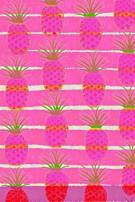 wallpaper pineapple pink pinkpagodastudio pineapples