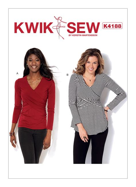 pattern review kwik sew 3601 kwik sew 4188 misses front crossover tops