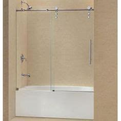 Bonia Stainless Semi schon 40 in x 55 in semi framed hinge tub and shower
