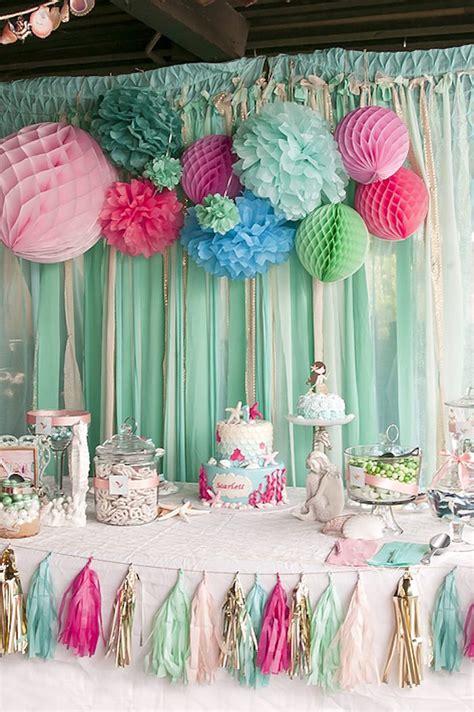 1st birthday decoration themes kara s ideas littlest mermaid 1st birthday