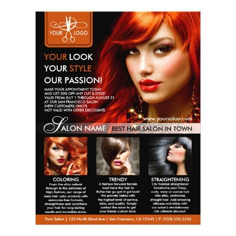 templates for salon flyers hair salon flyer templates hair stylist flyers zazzle