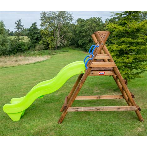 Outdoor Garden Description Tikes Warsaw Wooden Wavy Slide Outdoor Garden