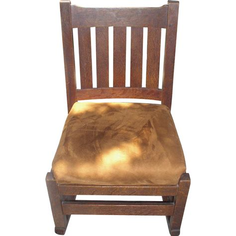 stickley mission style rocking chair 1915 ljg stickley 821 mission oak sewing nursing rocking