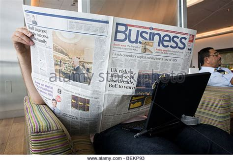 saturday telegraph money section quality broadsheet newspaper stock photos quality