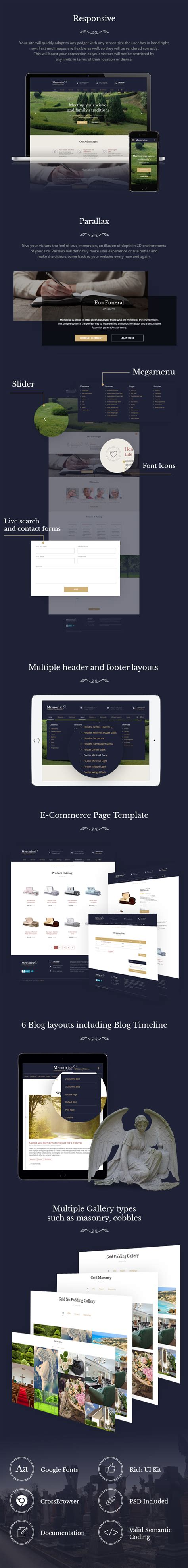 hot bootstrap themes memorize funeral home bootstrap theme with page builder