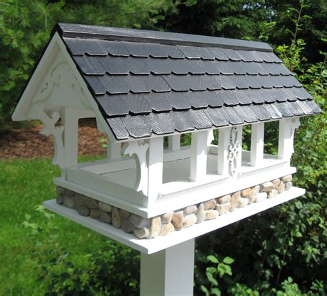 home bazaar covered bridge bird feeder