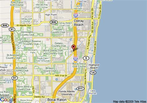 boca raton map map of garden inn boca raton boca raton