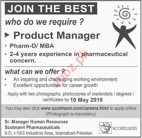 After Mba Pharmaceutical Management by Scotmann Pharmaceuticals Islamabad 2018 For Managers