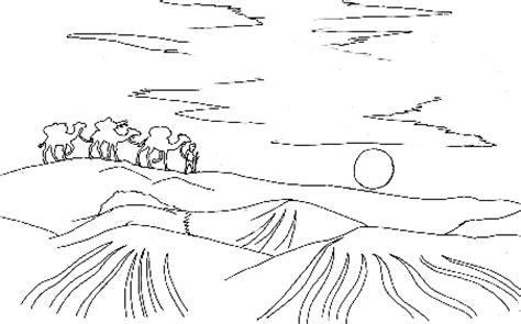 coloring pages desert landscape landscapes coloring pages