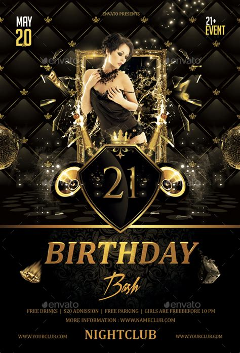 Birthday Bash Flyer By Butu85 Graphicriver Bash Flyer Template