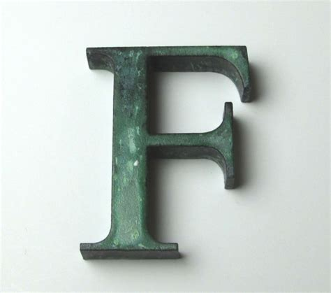 Letter Cast Cast Bronze Lettering With Patina Finish Bronze Architectural Letters