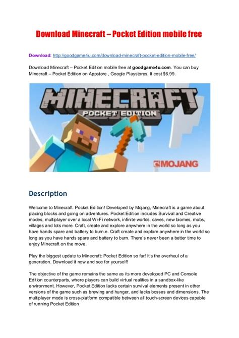 minecraft mobile free minecraft pocket edition mobile free