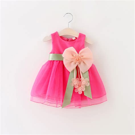Baby Dress Newest 2016 Import 2016 new birthday dresses baby s flowers infant dress children s dresses