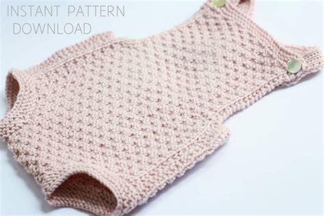 knitting pattern newborn romper baby romper knitting pattern mia download pdf