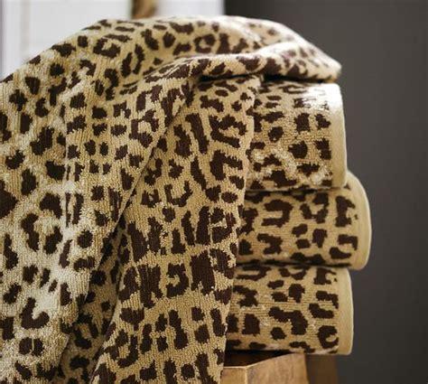 Basket Barn Leopard Jacquard 600 Gram Weight Bath Towels Pottery Barn