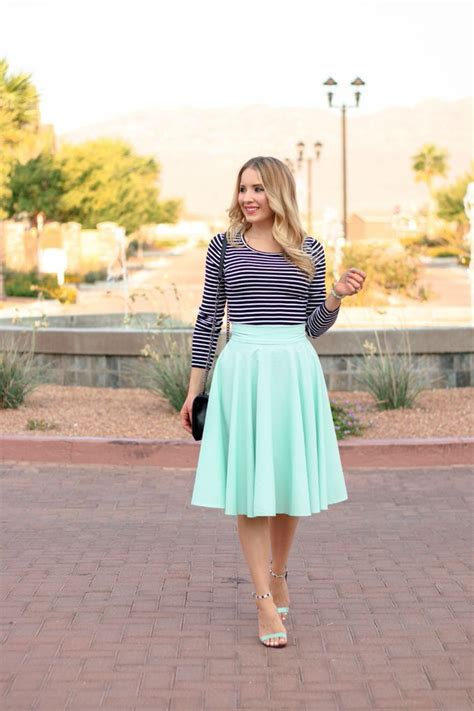mint colored mint skirt 25 ideas how to wear mint colored skirts