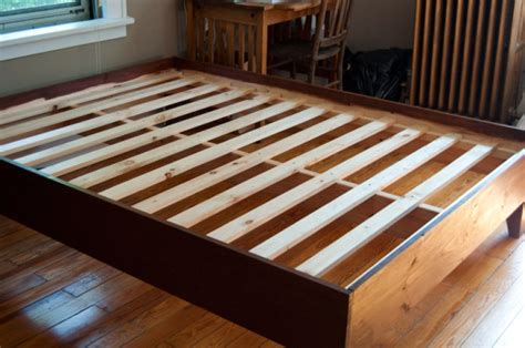 diy full bed frame build wooden full bed frame plans diy bessey cls