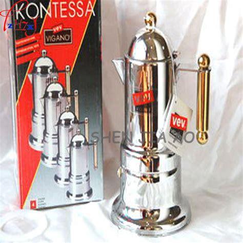 Diskon Akebonno Moka Pot Coffee Maker For 4 Cups Terlaris 1pcs home commercial italian moka pot stainless steel 4